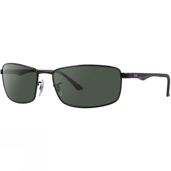 Ray Ban RB3498 Sunglasses Black/ Green