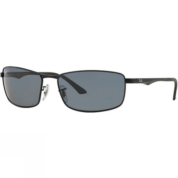 Ray Ban RB3498 Sunglasses Matte Black/ Polar Grey
