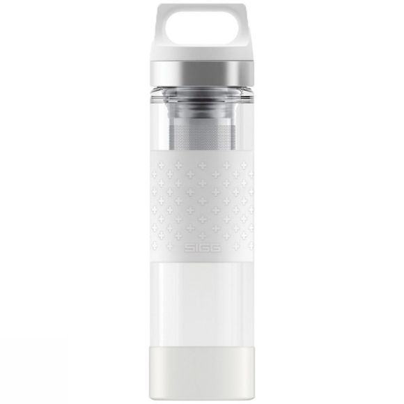 Sigg Hot & Cold Glass Bottle 0.4L White