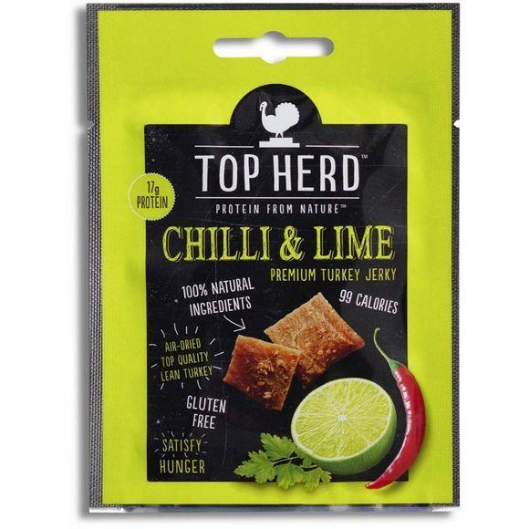 Top Herd Chilli & Lime Turkey Jerky 35g .