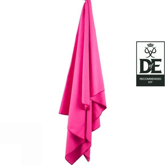 Lifeventure SoftFibre Trek Towel - X Large Pink
