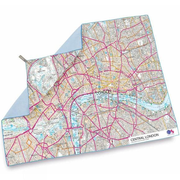 Lifeventure SoftFibre Ordnance Survey Travel Towel London