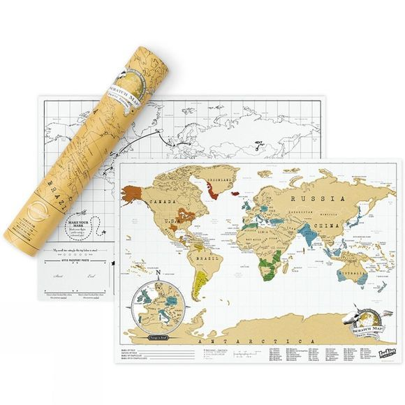 Luckies Scratch Map Travel Edition No Colour