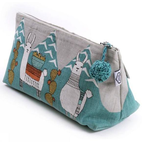 Llamarama Large Cosmetic Bag