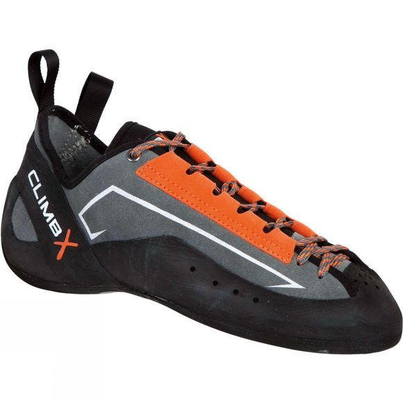 Climb X Crush Lace Climbing Shoe Grey/Orange