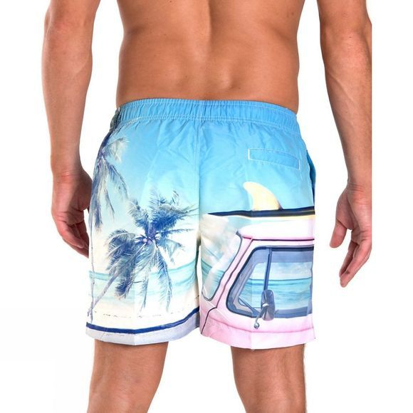 "Franks Mens Mid Length Volley Shorts 16"" Combi (Photo Print)"