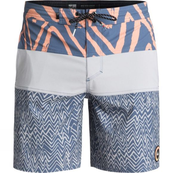 "Quiksilver Men's Techtonics 18"" Beach Shorts Silver Sonce"
