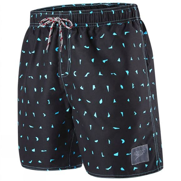 "Speedo Elemental Fusion Printed Leisure 16"" Watershort Black/ Turquoise"