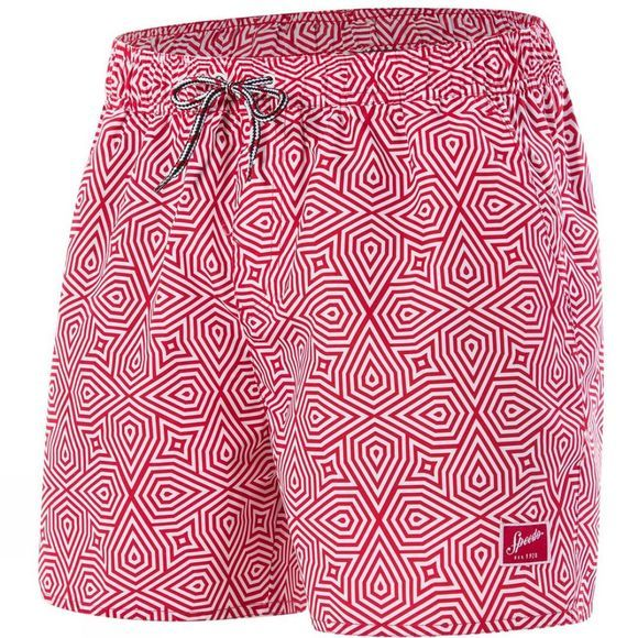 "Speedo Mens Vintage Print 14"" Watershort Red/White"