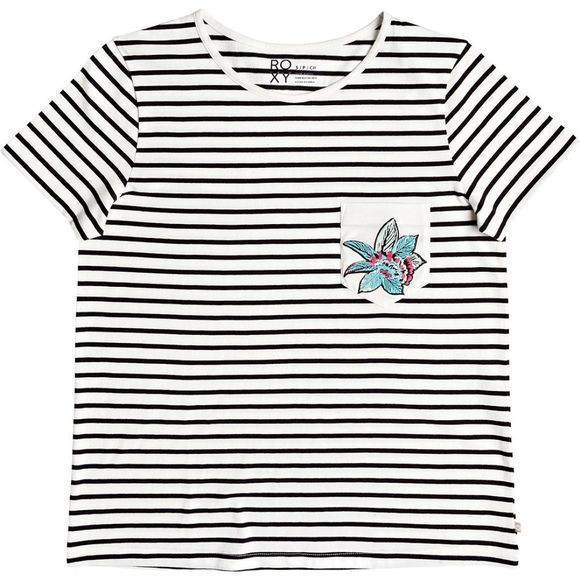 Roxy Womens Bahams Cottage Stripe Tee KVJ3