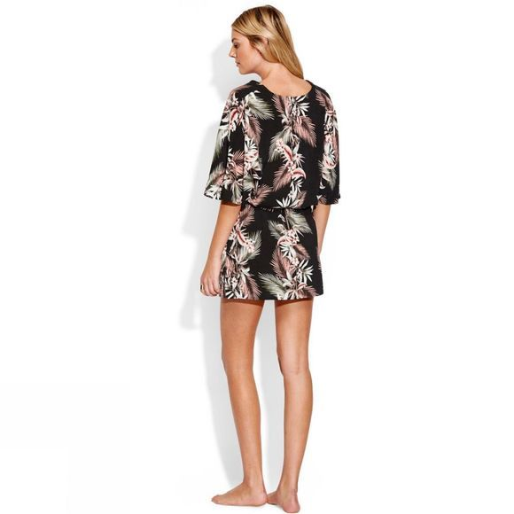 Seafolly Womens Ocean Alley Kaftan Black