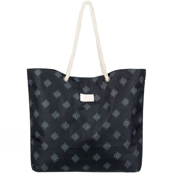 Roxy Tropical Vibe Beach Bag ANTHRACITE PEARLY TILES