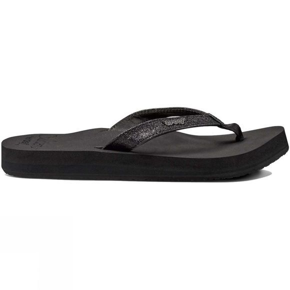 Reef Womens Star Cushion Flip Flop Black