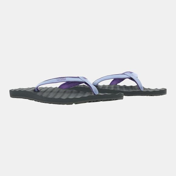 The North Face Womens Base camp Mini II Flip Flop Purple Impression/Dark Shadow Grey