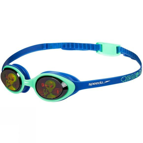Speedo Youth Illusion Goggle Ultrasonic/Fake Green/Alien Hologram