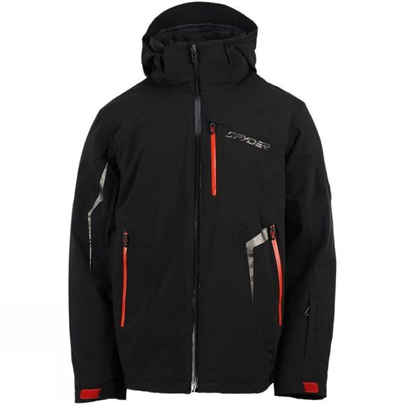 Spyder Men's Chambers Jacket Black          /Black Trim