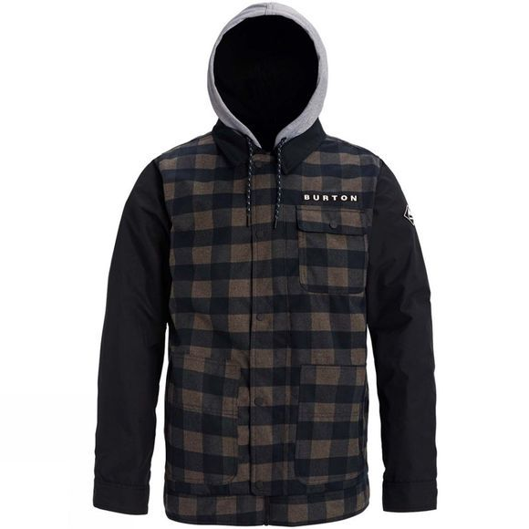 Burton Men's Dunmore Jacket True Black Heather Buffalo Plaid