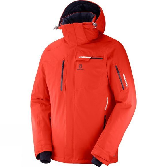 Salomon Mens Brilliant Jacket  Fiery Red