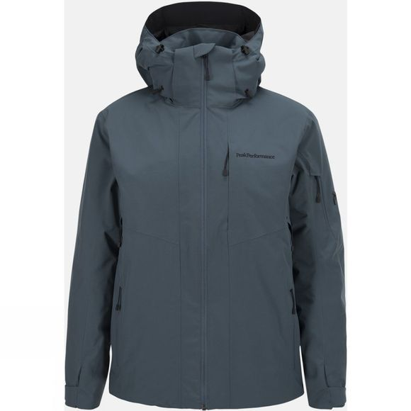 Peak Performance Mens Maroon II Ski Jacket Blue Steel