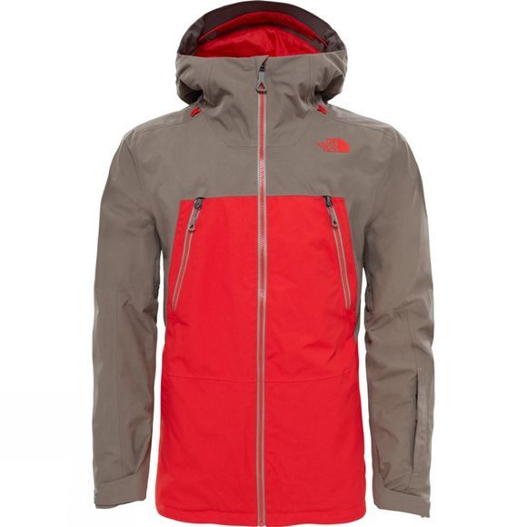 The North Face Mens Lostrail GTX 2L Jacket Centennial Red/ Falcon Brown