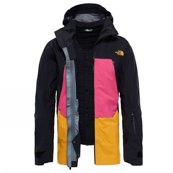 The North Face Purist Triclimate Jacket Black/ Mr. Pink/ Zinnia Orange