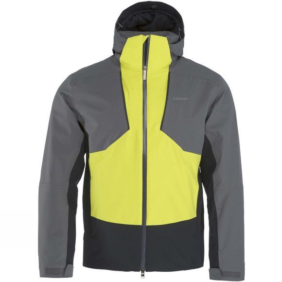 Head Mens Glacier Jacket Iron Gate/ Yellow