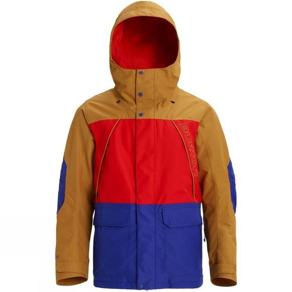 Burton Men's GTX Breach Jacket Wood Thrush/Flame Scarlet/Royal Blue