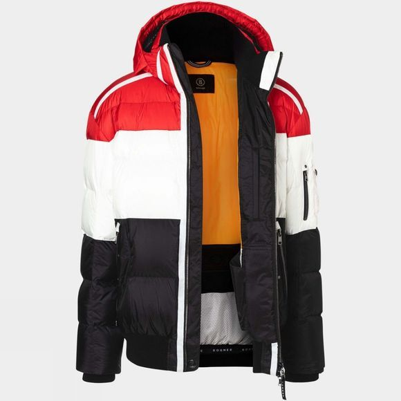 Bogner Men's Arik Down Jacket Red/White/Black