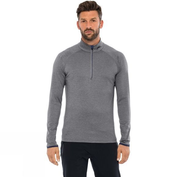 KJUS Mens Feel Halfzip Fleece Steel Grey Melange