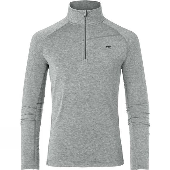 KJUS Mens Trace Halfzip Fleece Grey Melange