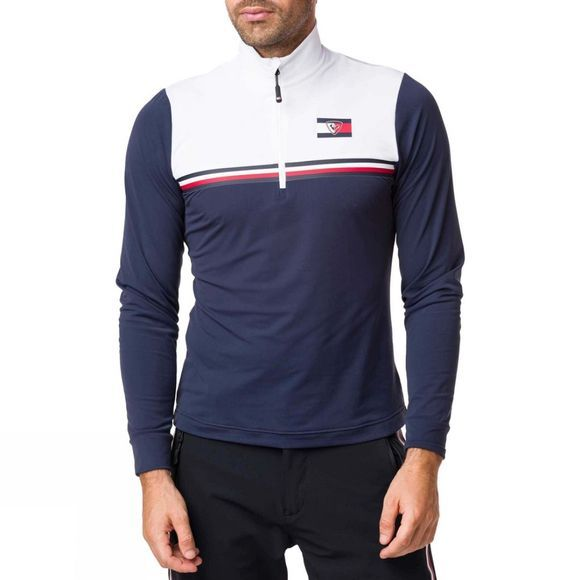 Rossignol Mens Global STP Half Zip Fleece Sky Captain