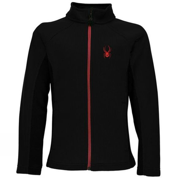 Spyder Men's Constant Full Zip Mid Weight Stryke Fleece Black/ Black/ Red