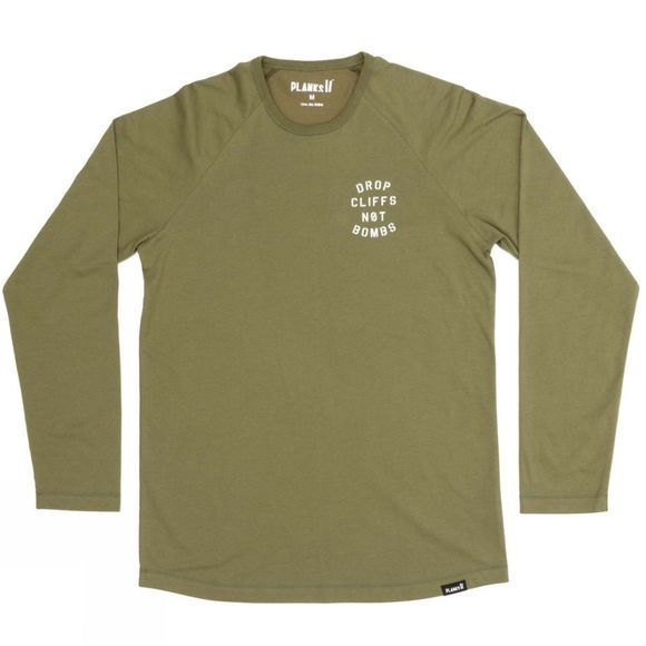 Planks Men's Drop Cliffs Long Sleeve T-Shirt Army Green