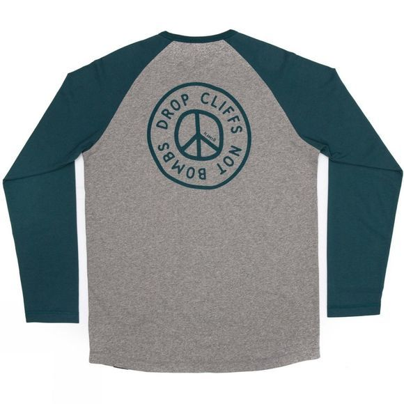 Planks Men's Peace Long Sleeve T-Shirt Sports Grey
