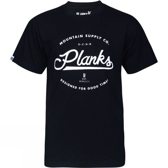 Planks Mens Mountain Supply Co. T-Shirt Black