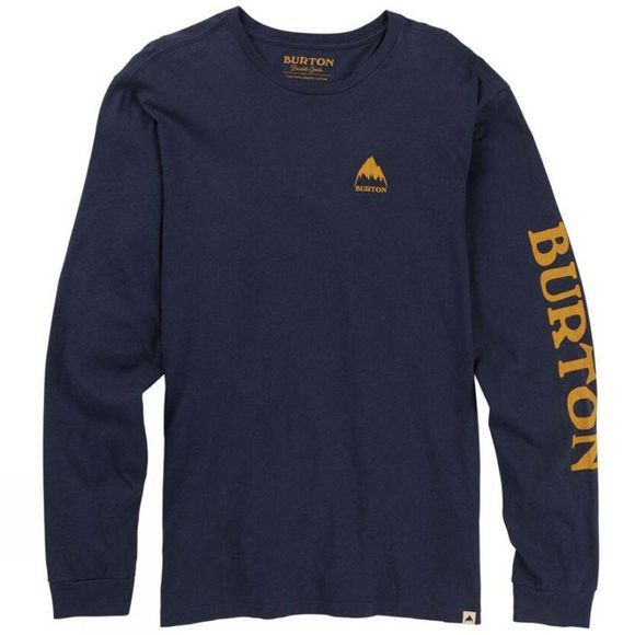 Burton Mens Elite LS T-Shirt Moon Indigo