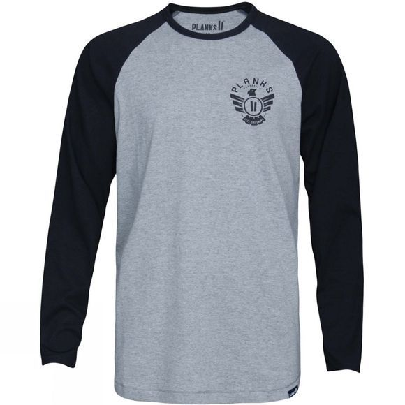 Planks Mens Eagle Long Sleeve T Shirt Black
