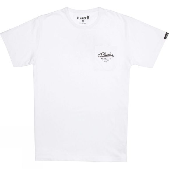 Planks Men's Short Sleeve Pocket Tee White