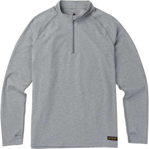 Burton Mens Expedition Quarter Zip Fleece Monument Heather