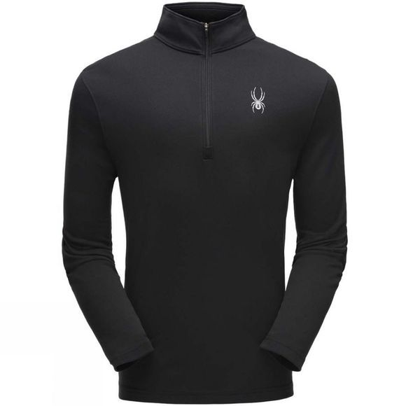 Spyder Mens Ace Zip T-Neck Black/ Black