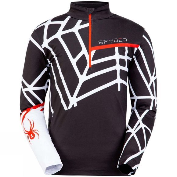 Spyder Men's Vital Zip T-Neck BLK WHT