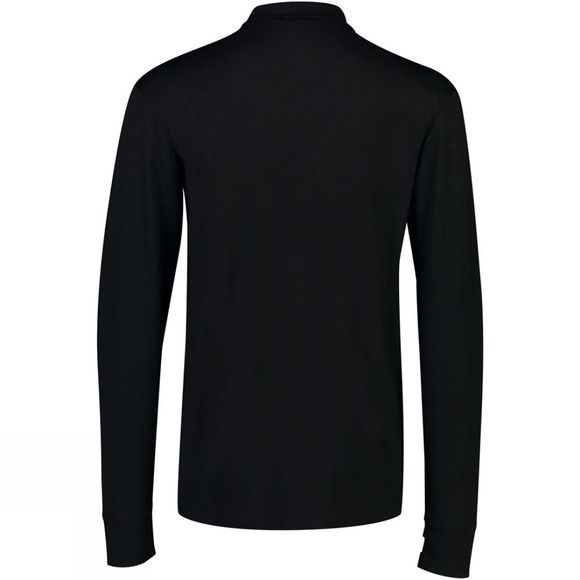 Mons Royale Men's Atla Tech Half Zip Top Black/Grey Marl