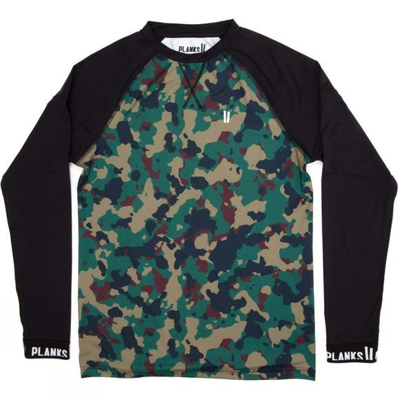 Planks Men's Fall-Line Base Layer Top Autumn Camo