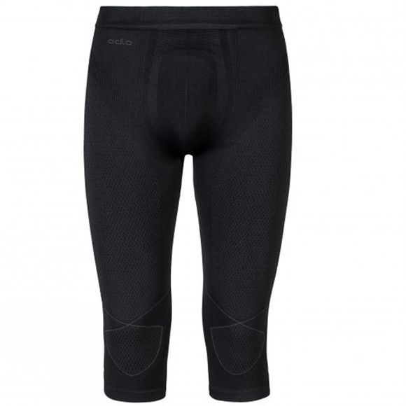 Odlo Men's Evolution Warm 3/4 Pant Black/Graphite Grey
