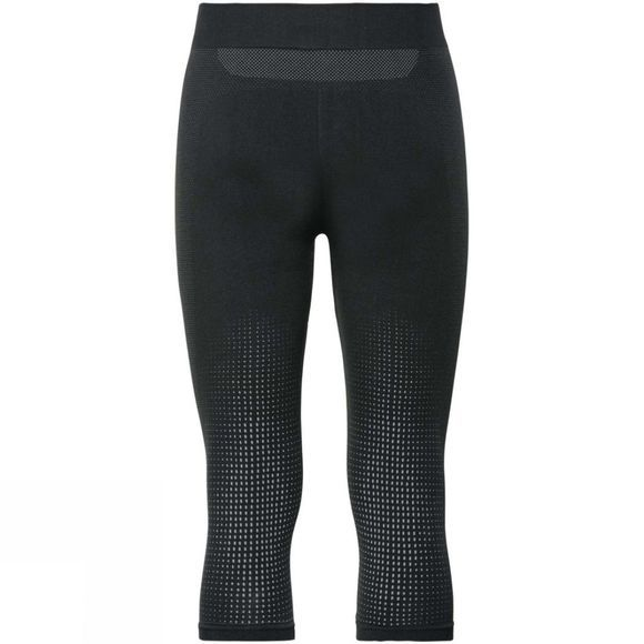 Odlo Mens Performance Warm 3/4 Pant Black/ Odlo Concrete Grey