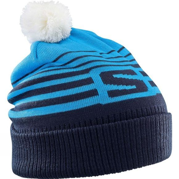Salomon Mens Izi Beanie HAWAIAN SURF/NIGHT SKY/WHITE