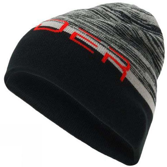 Spyder Mens Reversible Word Hat Alloy/ Black/ Volcano