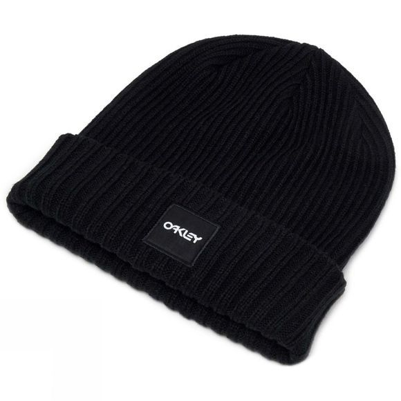 Oakley Mens Ribbed Beanie Blackout