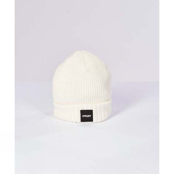 Oakley Mens Ribbed Beanie Arctic White