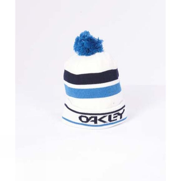 Oakley Mens B1B Striped Logo Beanie White